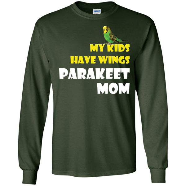 Parakeet Mom - My Kids Have Wings Parakeet Mom  LS Ultra Cotton Tshirt