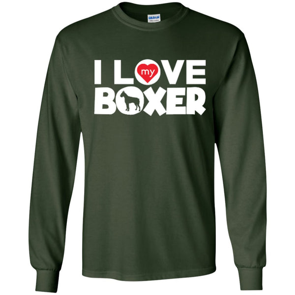 I Love My Boxer  - LS Ultra Cotton Tshirt
