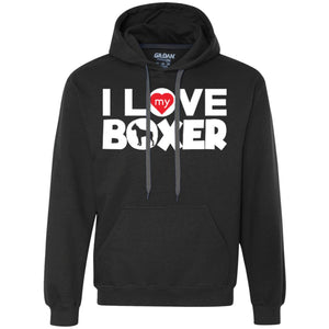 I Love My Boxer  - Heavyweight Pullover Fleece Sweatshirt