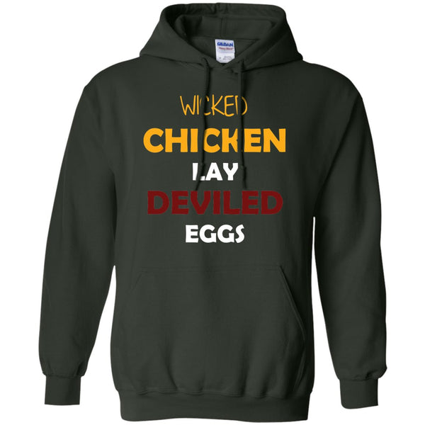 Funny Chicken Gift Shirt - Wicked Chickens  Pullover Hoodie 8 oz