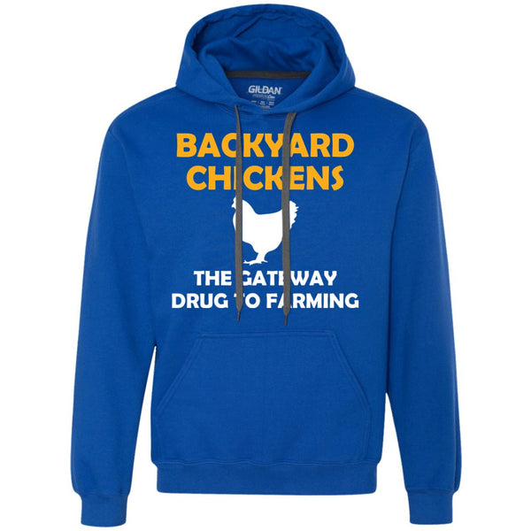 Funny Chicken Gift Chicken Gateway Shirt  Heavyweight Pullover Fleece Sweatshirt