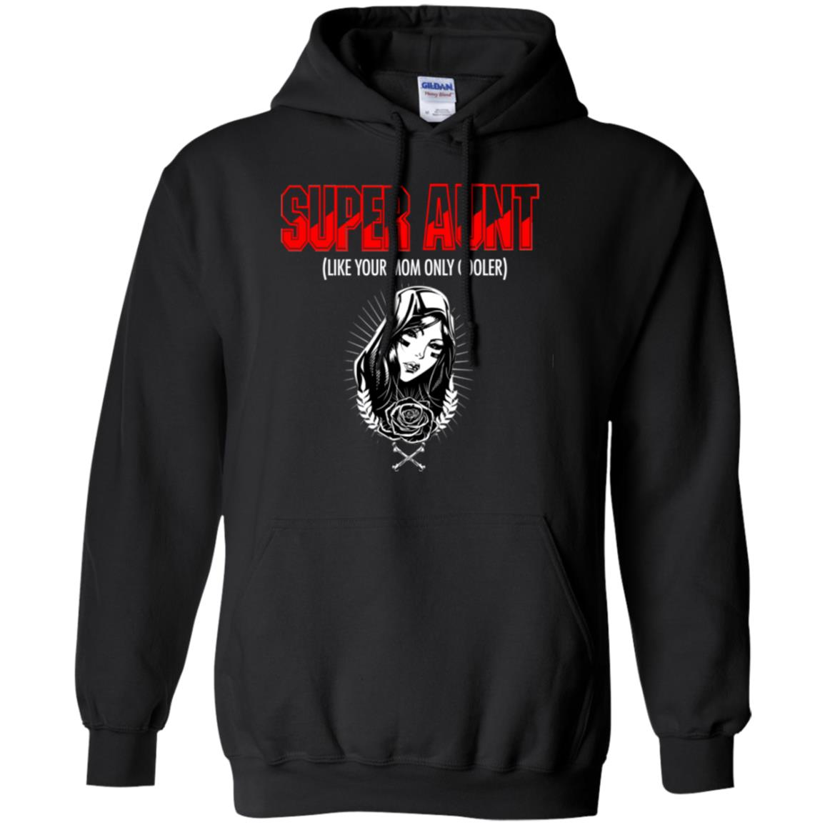 Cool Super Aunt Shirt Red Hoodie