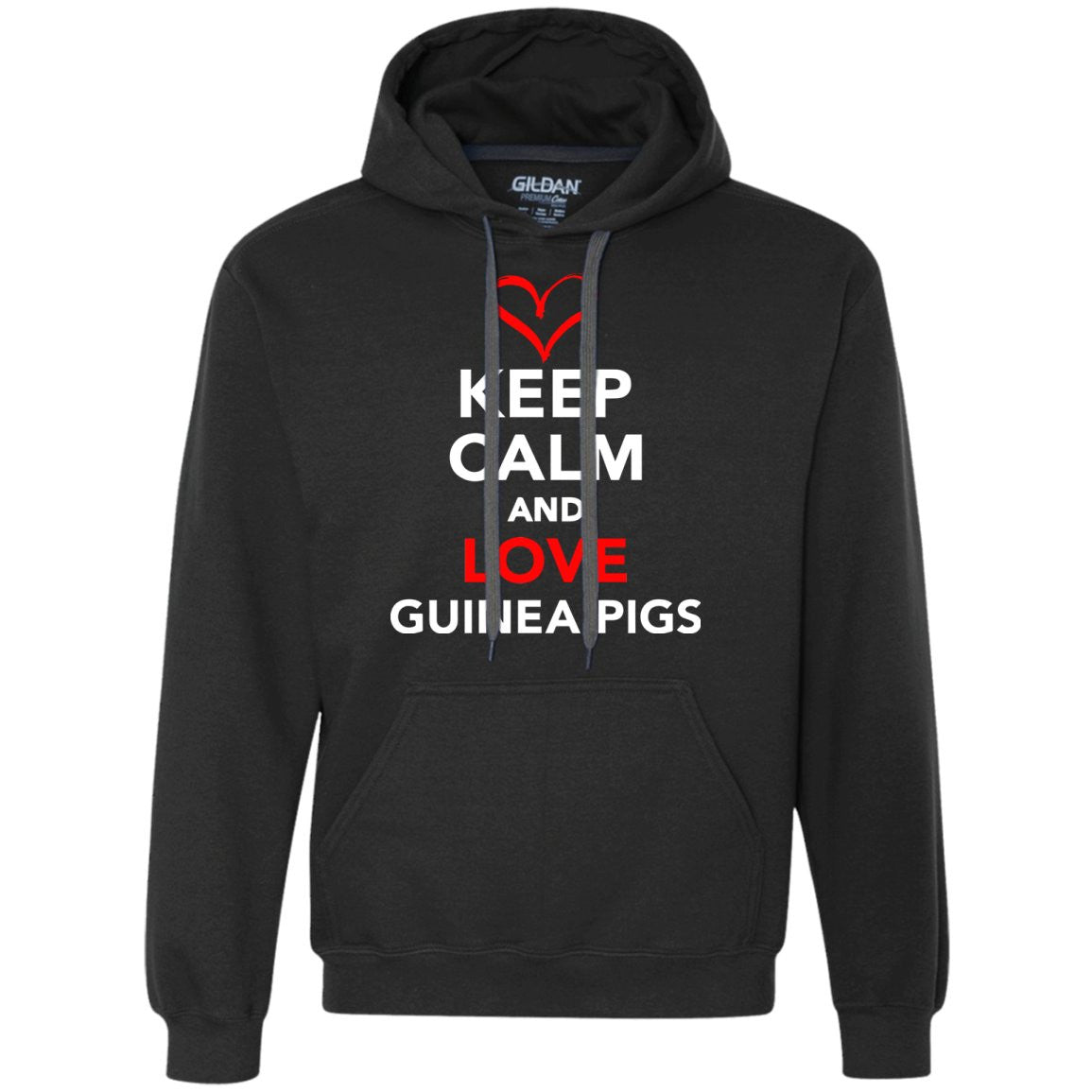 Keep Calm And Love Guinea Pigs  Heavyweight Pullover Fleece Sweatshirt
