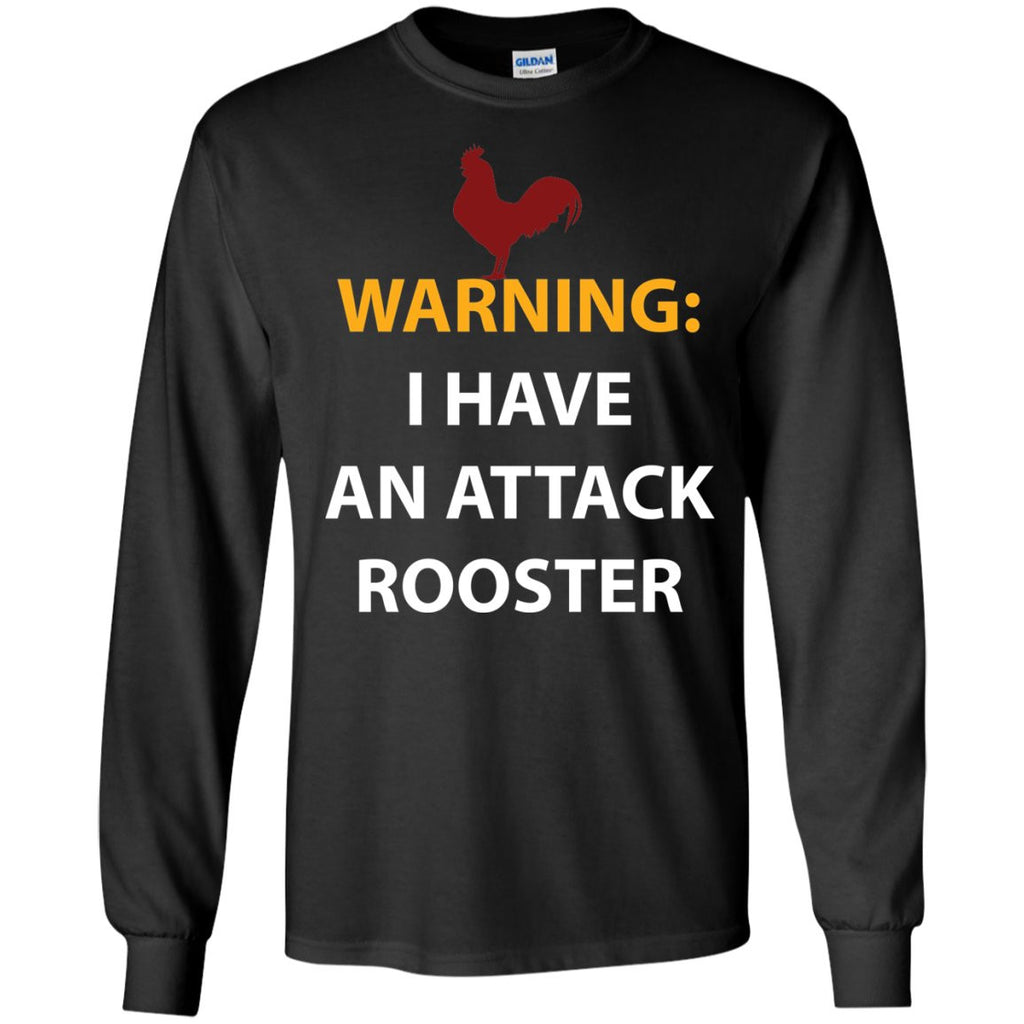 Chicken Gag Gift Funny Attack Rooster Shirt  LS Ultra Cotton Tshirt