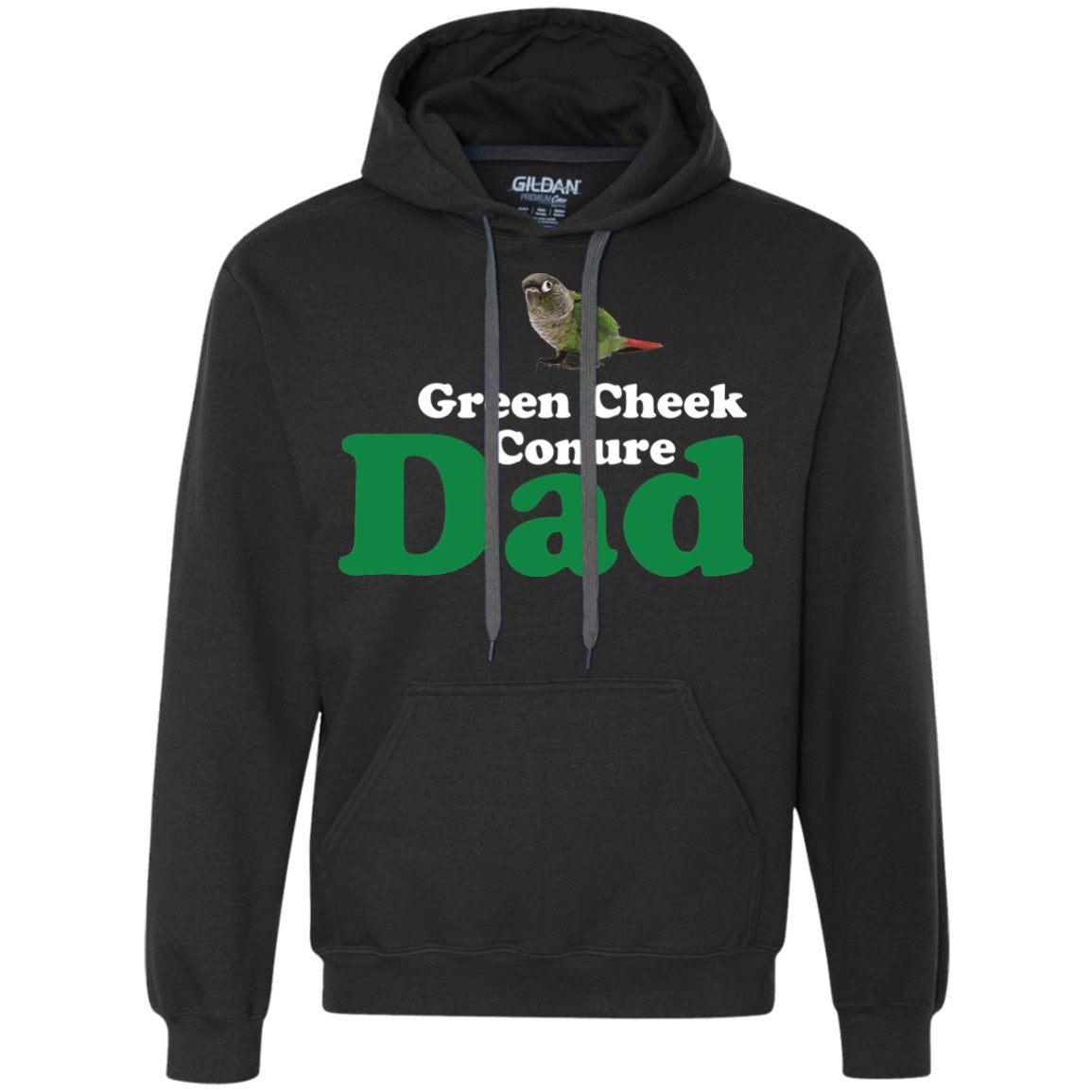 Green Cheek Conure Dad - Funny Shirt  Heavyweight Pullover Fleece Sweatshirt