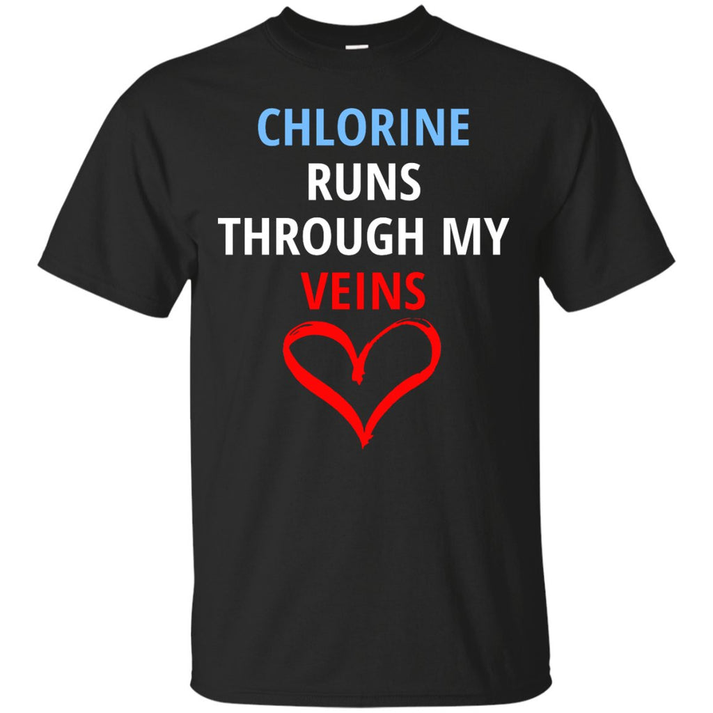 Awesome Swim Competition Shirt - Chlorine Runs Thru My Veins