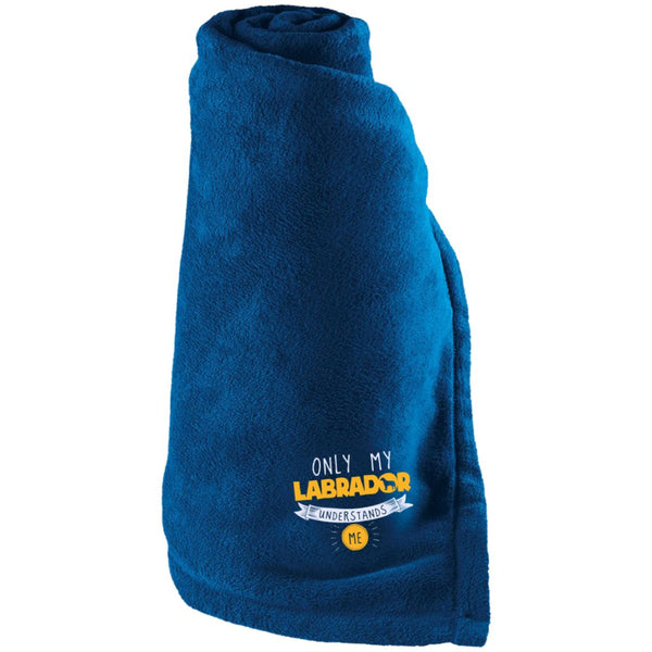 Labrador - Only My Labrador Understands Me - Large Fleece Blanket