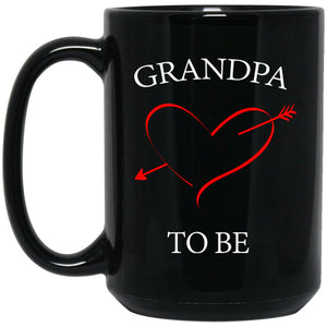 Grandpa To Be Gift Baby Announcement Large Black Mug
