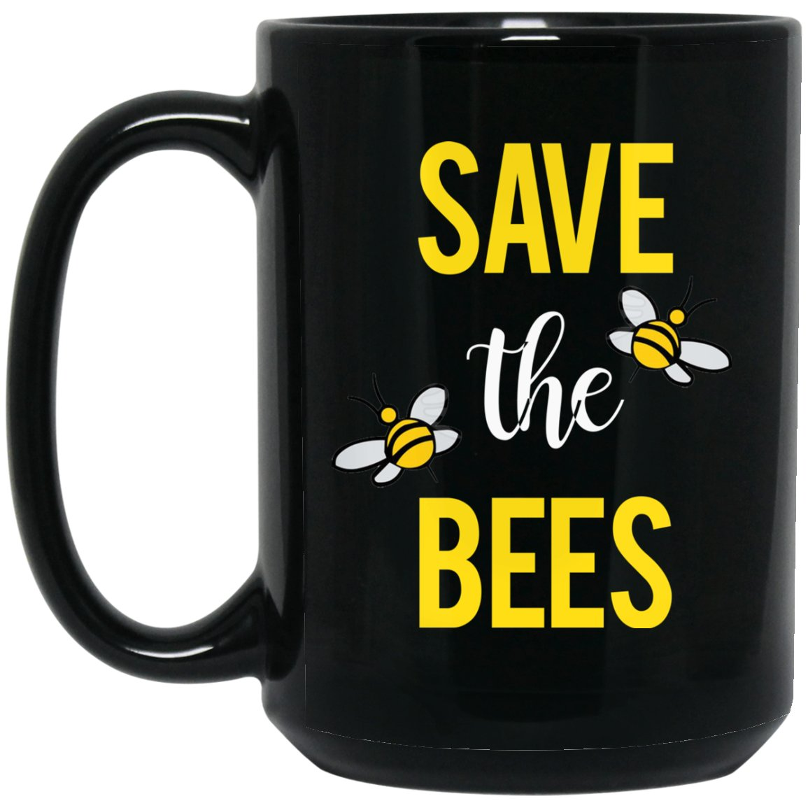 Awesome Save the Bees Gift Large Black Mug