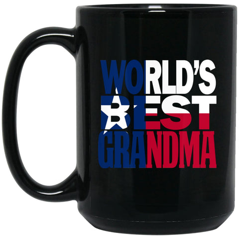 Cool Worlds Best Grandma Mug and Texas T Mug Grandma T Mug Texas Flag Mug Large Black Mug