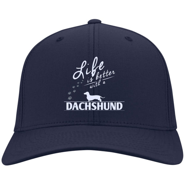 Dachshund - Life Is Better With A Dachshund Paws - Dry Zone Nylon Cap (Embroidered)
