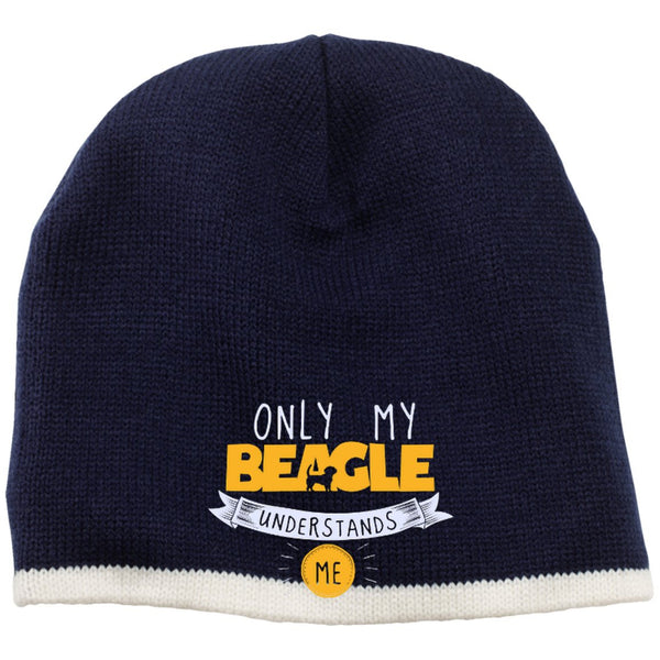 Beagle - Only My Beagle Understands Me Yellow - Beanie (Embroidered)