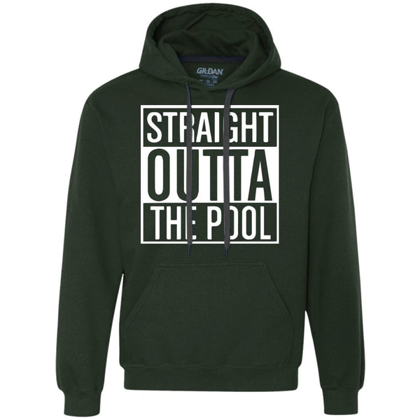 Funny Swimmers Hoodie - Straight Out Of The Pool - Heavyweight Pullover Fleece Sweatshirt