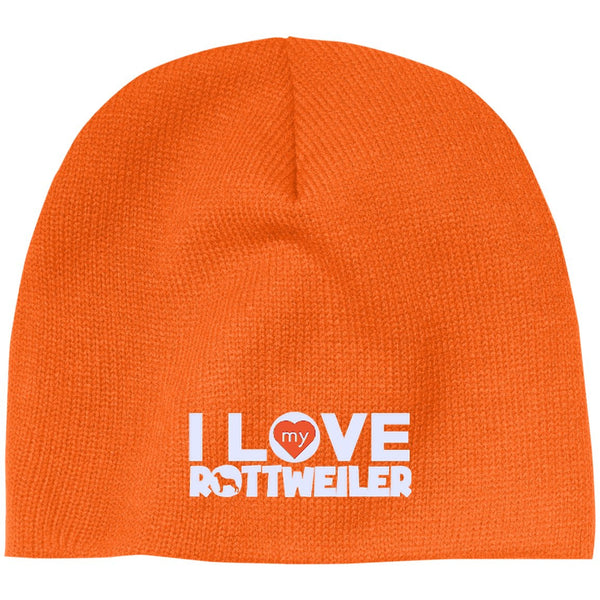 I Love My Rottweiler - Beanie (Embroidered)