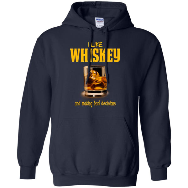 Funny Whiskey Lover Shirt Whiskey Gift Making bad Decisions Hoodie