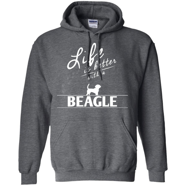 Beagle - Life Is Better With A Beagle Paws - Pullover Hoodie 8 oz