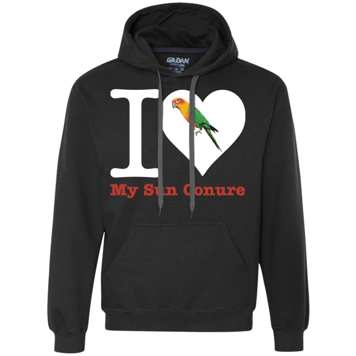 Sun Conure Shirt - Love My Sun Conure  Heavyweight Pullover Fleece Sweatshirt