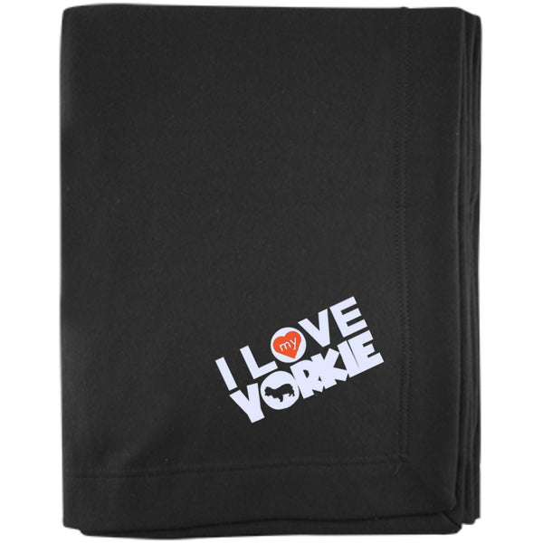 I Love My Yorkshire Terrier - Embroidered Sweatshirt Blanket