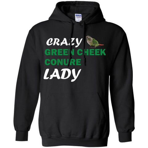 Crazy Green Cheek Conure Lady Pullover Hoodie 8 oz