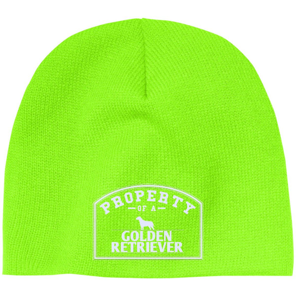 Golden Retrievers - Property Of A Golden Retrievers - Beanie (Embroidered)
