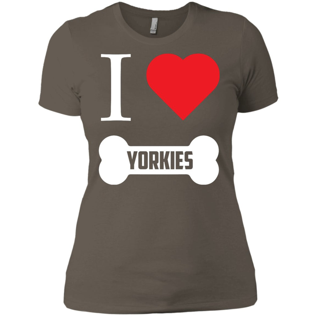 Yorkshire - I LOVE MY YORKSHIRE (BONE DESIGN) - Next Level Ladies' Boyfriend Tee