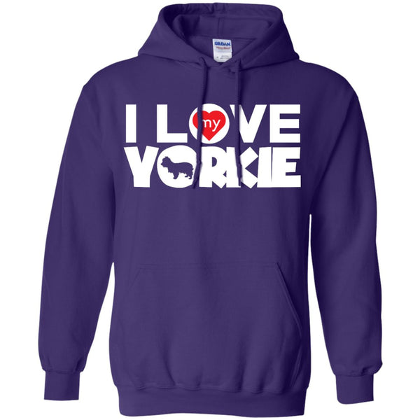 I Love My Yorkshire Terrier - Pullover Hoodie 8 oz