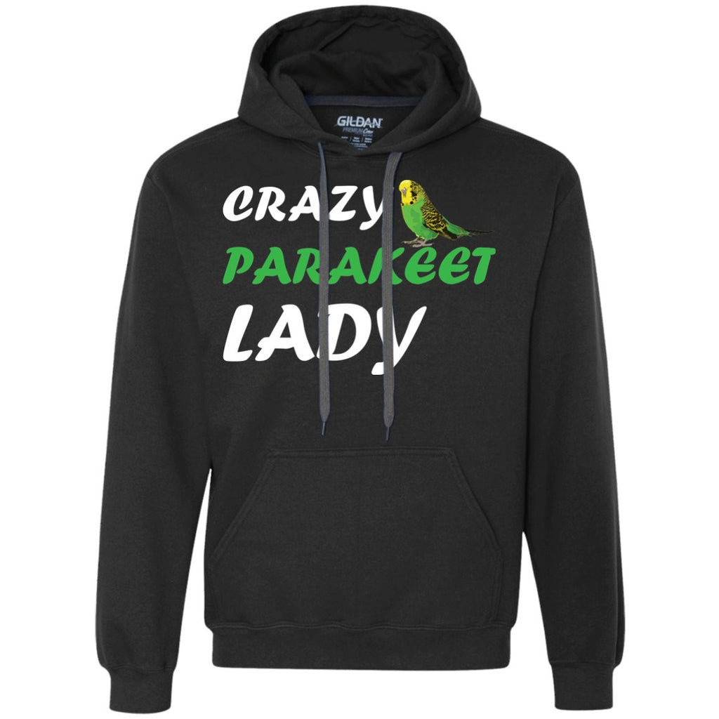 Crazy Parakeet Lady  Heavyweight Pullover Fleece Sweatshirt