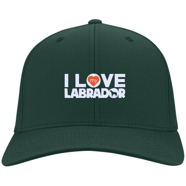 I Love My Labrador  - Dry Zone Nylon Cap (Embroidered)