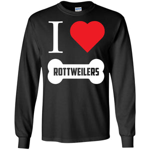 Rottweiler - I LOVE MY ROTTWEILER (BONE DESIGN) - LS Ultra Cotton Tshirt