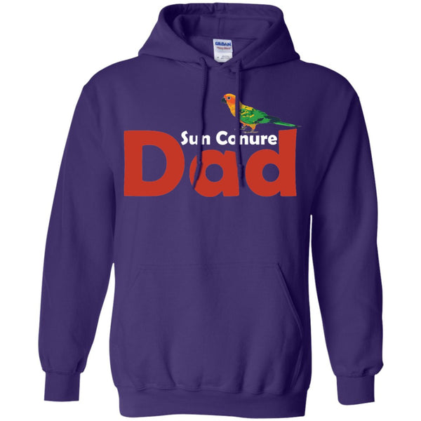 Sun Conure Dad - Awesome Sun Conure Lover Shirt  Pullover Hoodie 8 oz