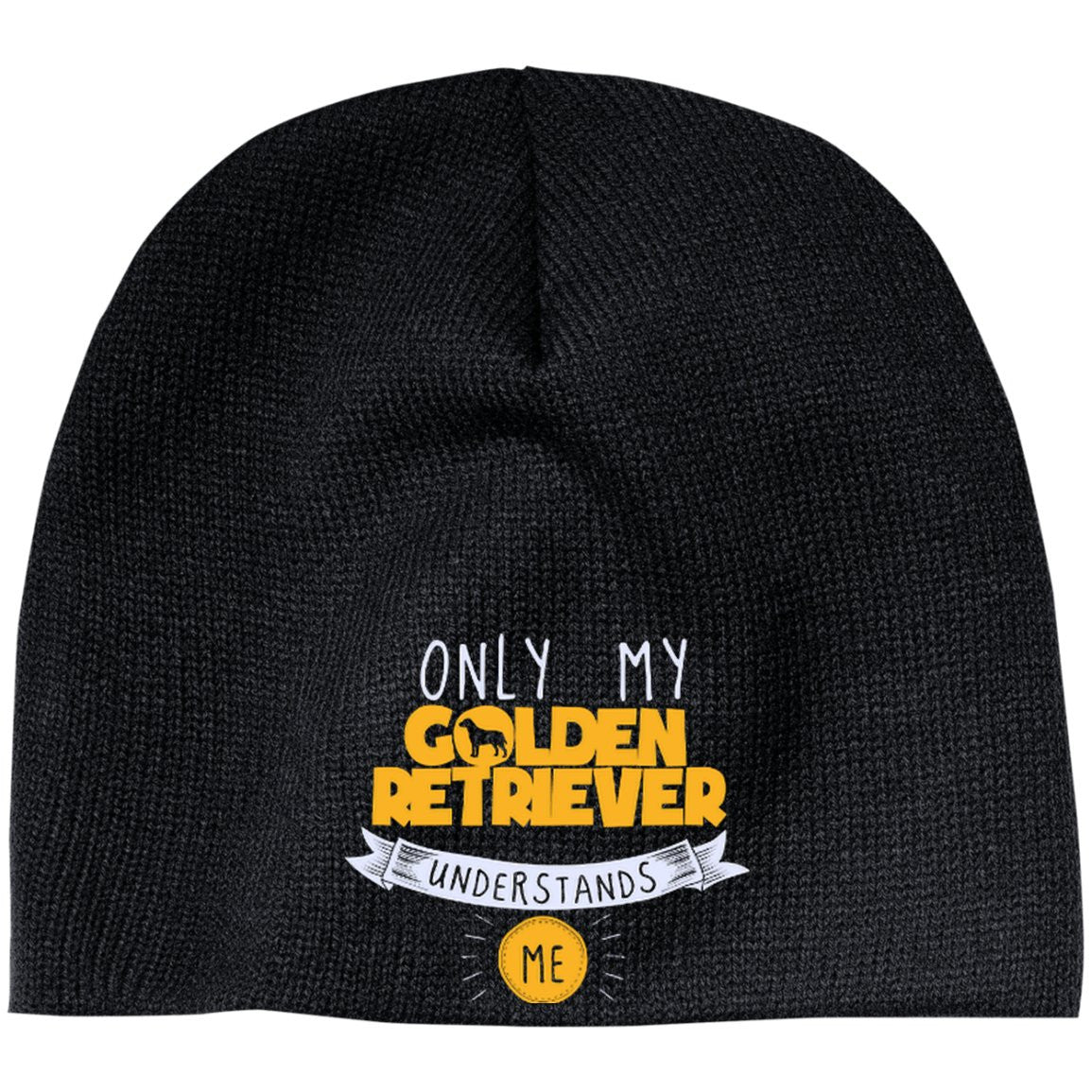Only My Golden Retriever Understands Me Yellow - Beanie (Embroidered)