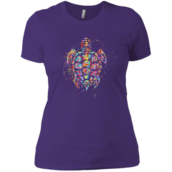 Beautiful Painted Turtle Gift Womens T-Shirt