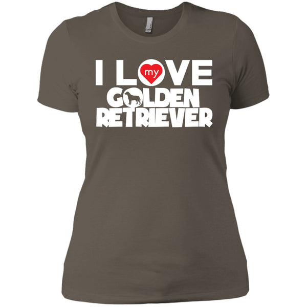 I Love My Golden Retriever - Next Level Ladies' Boyfriend Tee