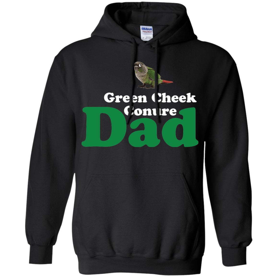 Green Cheek Conure Dad - Funny Shirt  Pullover Hoodie 8 oz