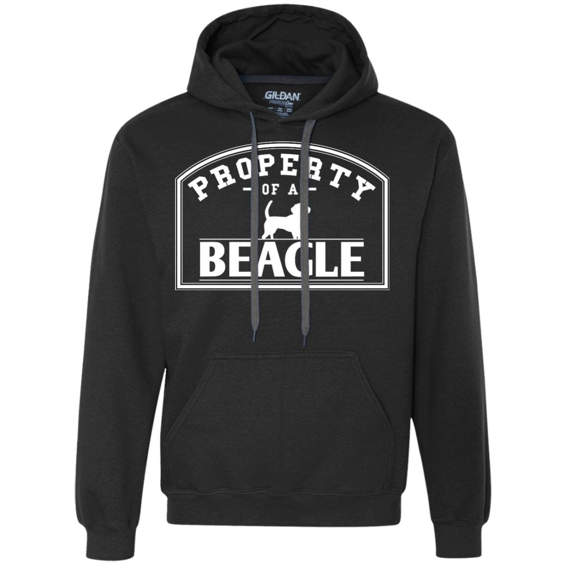 Beagle - Property Of A Beagle - Heavyweight Pullover Fleece Sweatshirt