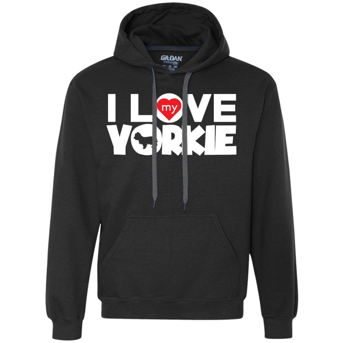 I Love My Yorkshire Terrier - Heavyweight Pullover Fleece Sweatshirt