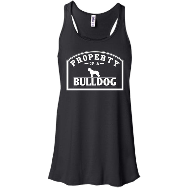 Bulldog - Property Of A Bulldog - Bella+Canvas Flowy Racerback Tank