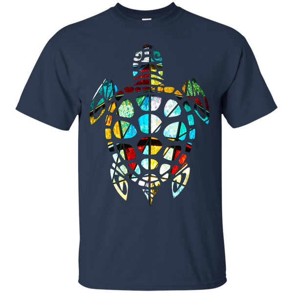 Cool Sea Turtle Stained Glass T-Shirt