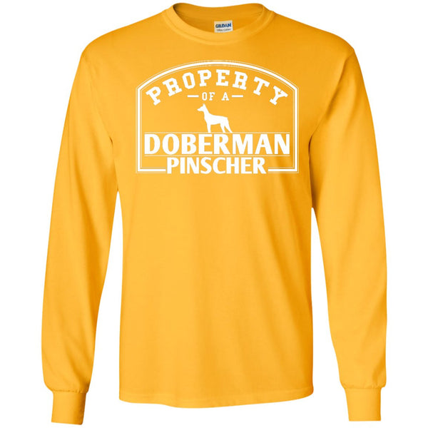 Doberman - Property Of A Doberman - LS Ultra Cotton Tshirt