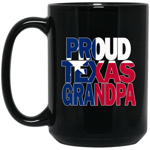Cool Texas Grandpa Mug and Texas T Mug Grandpa T Mug Texas Flag Mug Large Black Mug