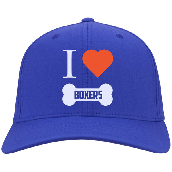 Boxer - I LOVE MY BOXER (BONE DESIGN) - Dry Zone Nylon Cap (Embroidered)