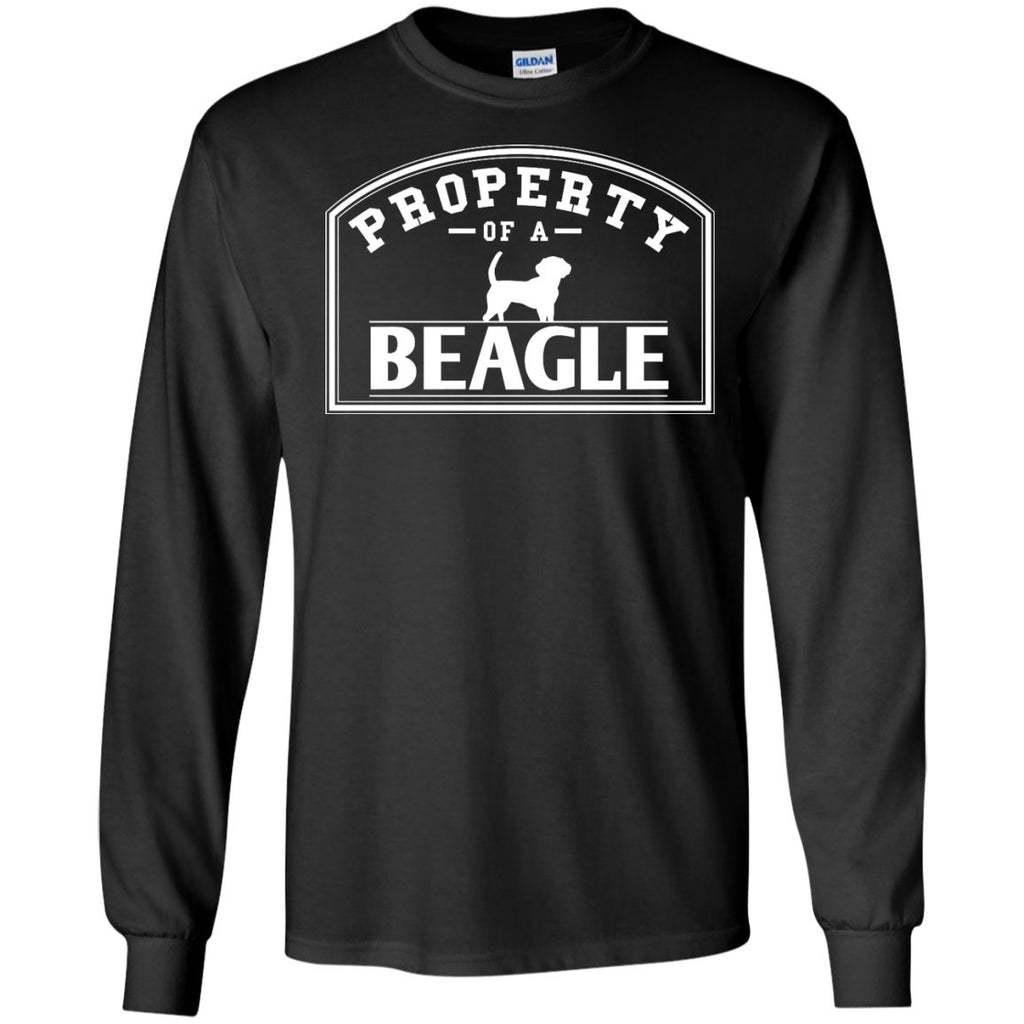 Beagle - Property Of A Beagle - LS Ultra Cotton Tshirt