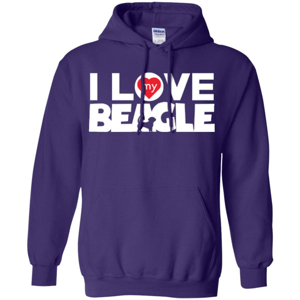 I Love My Beagle - Pullover Hoodie 8 oz