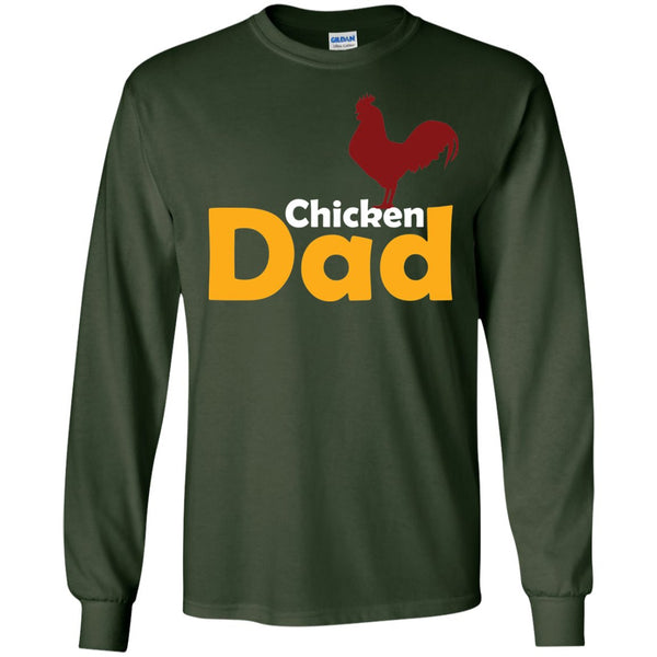 Funny Chicken Themed Gift - Chicken Dad Shirt  LS Ultra Cotton Tshirt