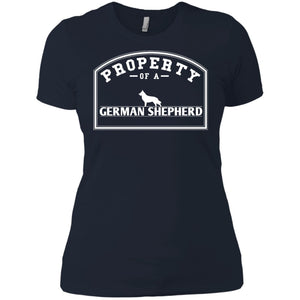 German Shepherd - Property Of A German Shepherd - Next Level Ladies' Boyfriend Tee