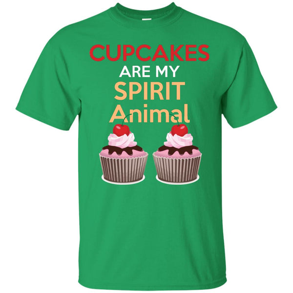 Funny Baking Gift - Cupcakes Are My Spirit Animal Shirt - Great Bakers Gift T-Shirt