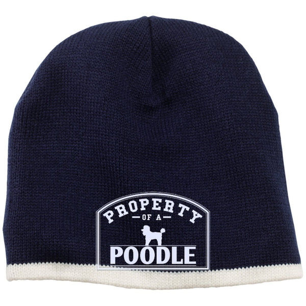 Poodle - Property Of A Poodle - Beanie (Embroidered)