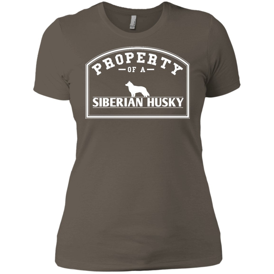 Siberian Husky - Property Of A Siberian Husky - Next Level Ladies' Boyfriend Tee