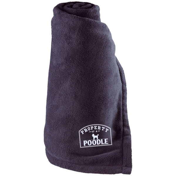 Poodle - Property Of A Poodle - Large Fleece Blanket
