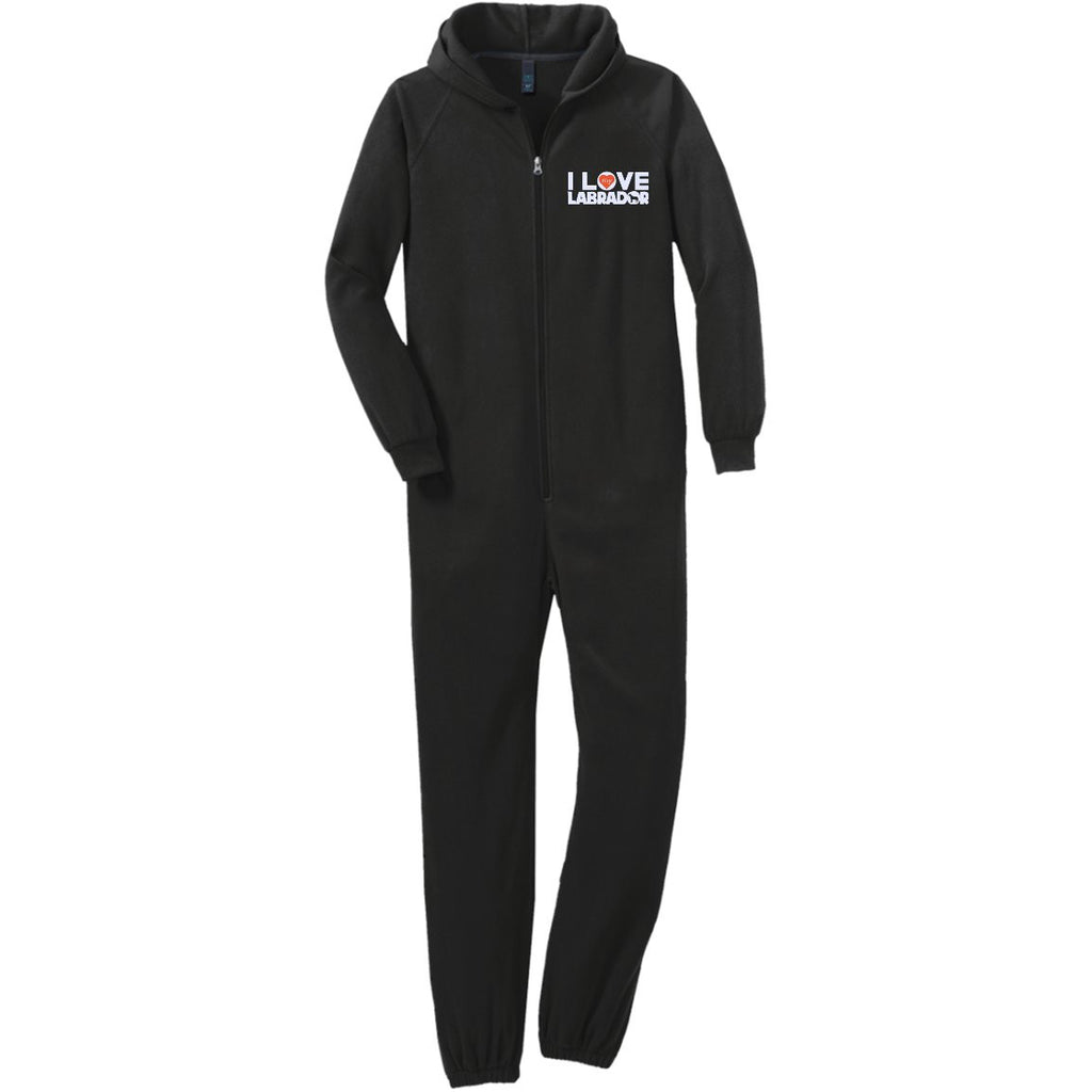 I Love My Labrador  - Adult Fleece Onesie (Embroidered)